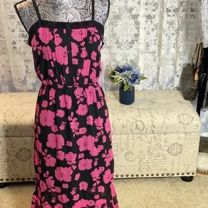 Kensie Spaced Floral Woven Maxi Combo Dress